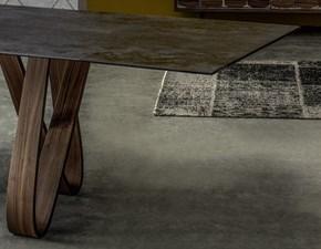 Tavolo Butterfly Tonin Casa piano in ceramica nero allungabile scontato