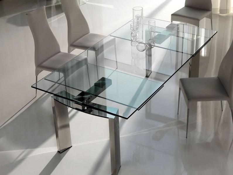 Tavolo cattelan modello daytona for Tavolo vetro acciaio allungabile