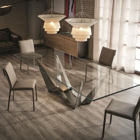 Forum tavolo in vetro per salone for Tavolo salone moderno