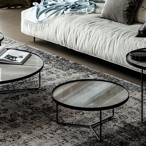 Cattelan Tavolino Billy keramik Rotondi Fissi Metallo - Tavoli a prezzi scontati