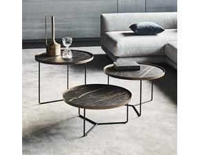 Cattelan Tavolino Billy keramik  Rotondi Fissi Metallo