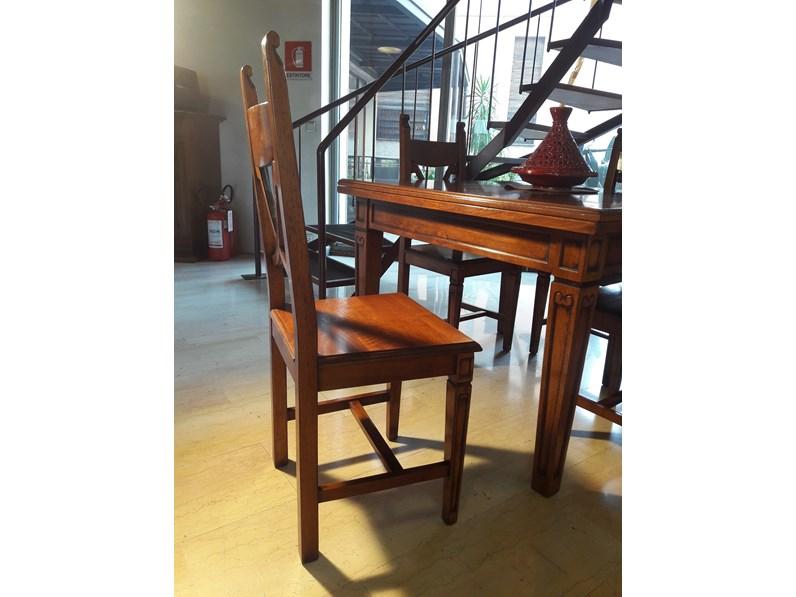 Tavolo Classico legno massello completo di 4 sedie scontato ...