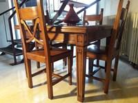Tavolo In Legno Allungabile Con 4 Sedie.Tavolo Classico Legno Massello Completo Di 4 Sedie Scontato