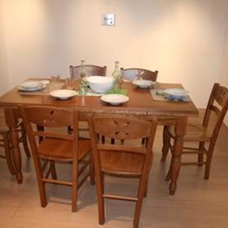 Tavolo classico rettangolare e allungabile con 6 sedie tavoli a prezzi scontati - Tavolo consolle allungabile con sedie ...