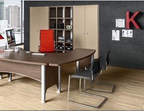 Tavolo Composizione ufficio direzionale kronos 04 Zg mobili in legno Fisso