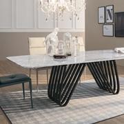 tavolo arpa con il piano in marmo bianco carrara fisso