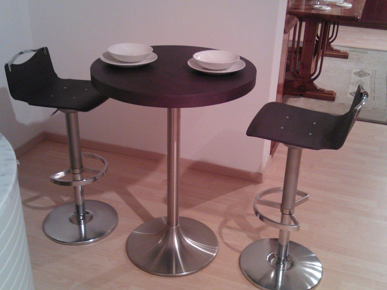 Tavolo rovere grigio scontato del 50 tavoli a prezzi for Tavolo tondo alto