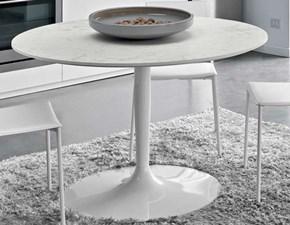 Tavolo Connubia modello Planet CB/4005. Tavolo fisso rotondo in metallo e legno disponibile in varie finiture.