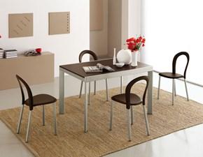 Tavolo Connubia modello Plano CB/4731. Tavolo allungabile in legno e in metallo disponibile in varie finiture.