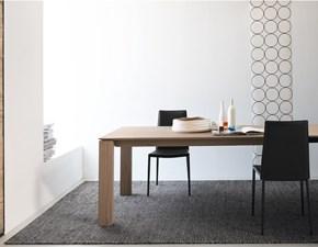 Tavolo Connubia modello Sigma Wood CB/4069-LL 140. Tavolo allungabile completamente in legno rovere.