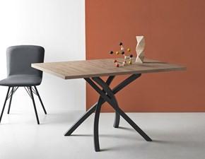 Tavolo Connubia modello Twister CB/4782-RC 160. Tavolo in legno ed in metallo disponibile in varie finiture.