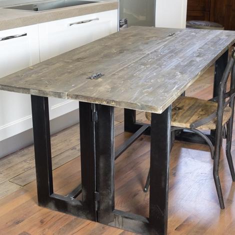 Tavolo consolle a ribalta etnico industrial in offerta tavoli a prezzi scontati - Tavolo allungabile a ribalta ...