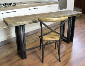 tavolo consolle a ribalta etnico industrial gambe iron in offerta