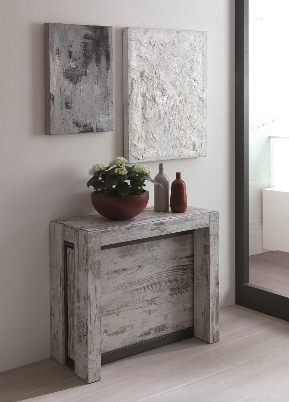 Tavolo consolle allungabile micro tavoli a prezzi scontati - Tavolo consolle allungabile con sedie ...