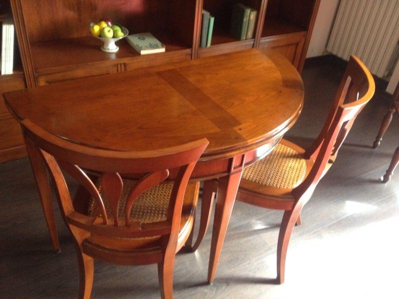 Tavolo consolle mezzaluna allungabile sconto outlet tavoli a prezzi scontati - Tavolo consolle allungabile riflessi prezzi ...