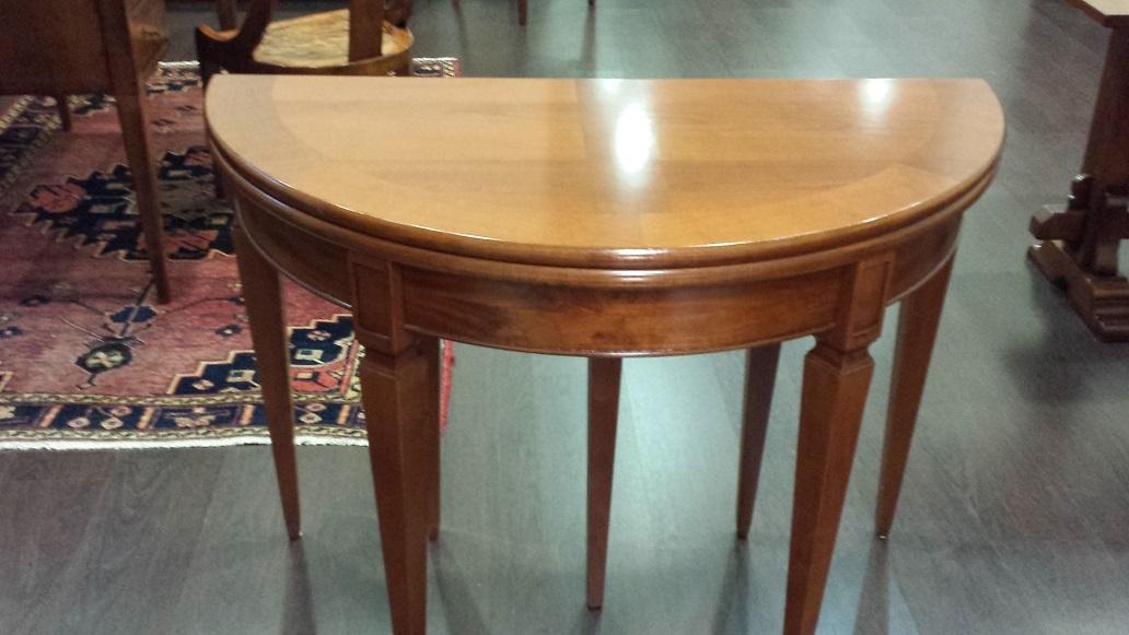 tavolo consolle mezzaluna allungabile sconto outlet