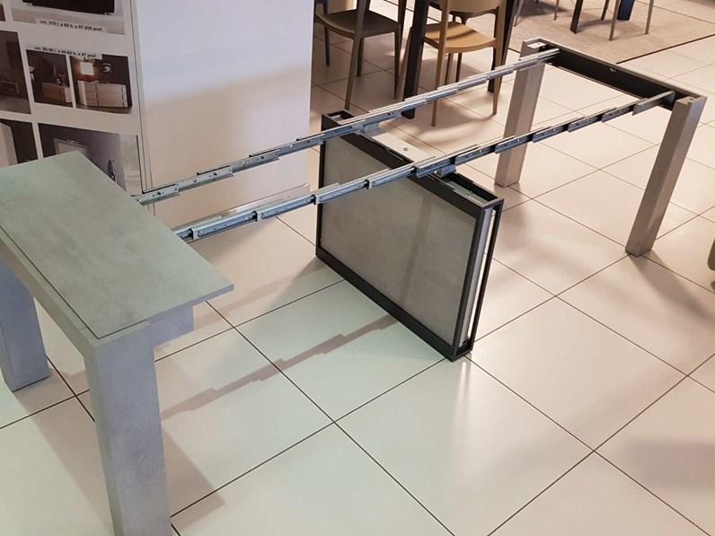 Tavolo consolle Micro beton Ozzio PREZZO OUTLET