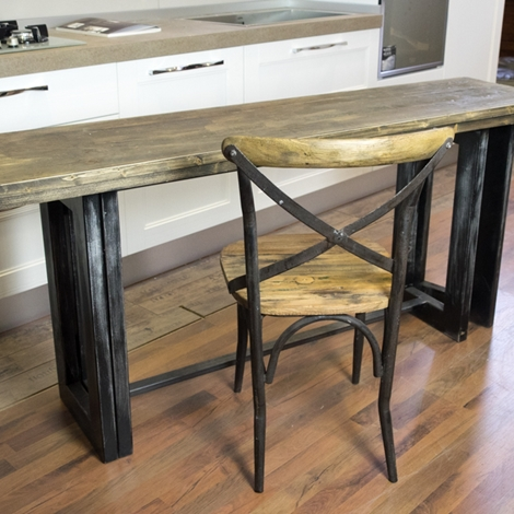 Tavolo consolle vintage etno ribalta cm 170 industrial - Gambe tavoli ikea ...