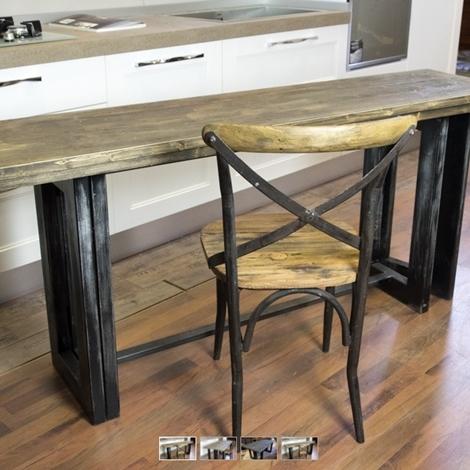 Tavolo consolle vintage industrial style in offerta tavoli a prezzi scontati - Tavolo allungabile a ribalta ...