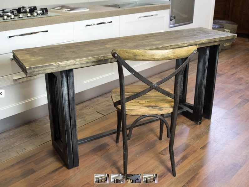 tavolo consolle vintage industrial style in offerta