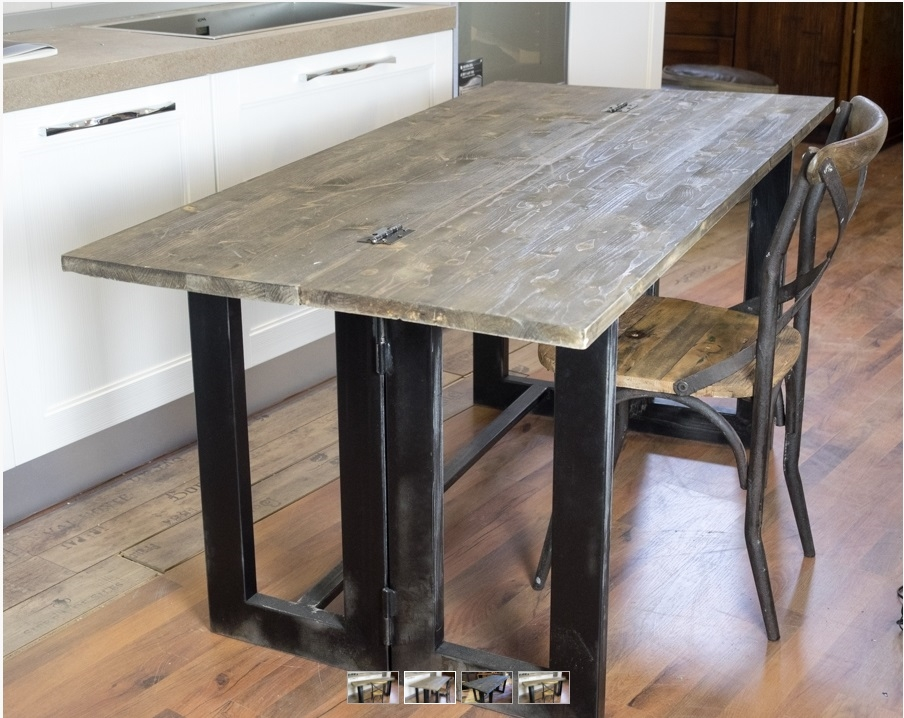 Tavolo consolle vintage industrial style in offerta - Tavoli vintage legno ...