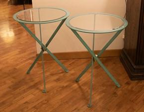 Tavolo Coppia di tavoli riva in ferro e cristallo bisellato Artigianale in vetro Fisso