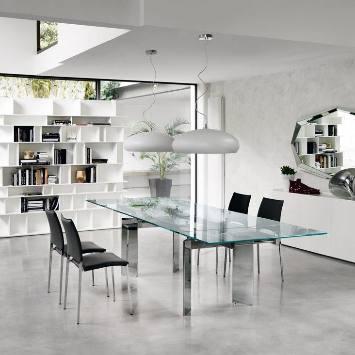 tavolo cristallo allungabile elan di cattelan tavoli a