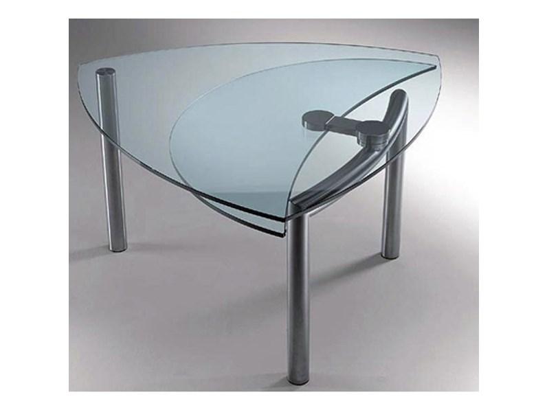 Tavolo cristallo allungabile reflex scontato del 50 for Tavolo cristallo prezzi