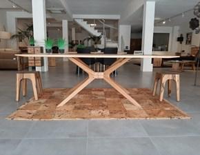 Tavolo Cross Artigianale in legno Fisso