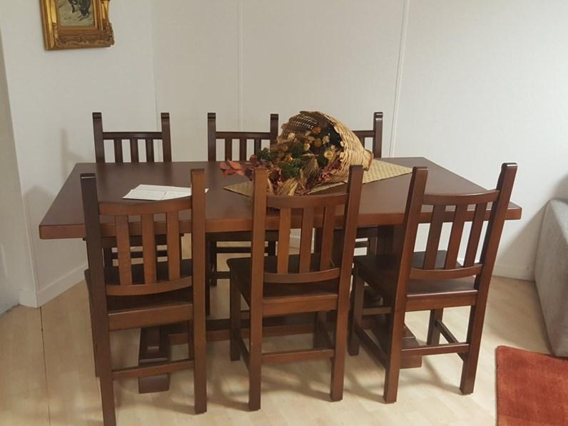 tavolo cucina classico con 6 sedie