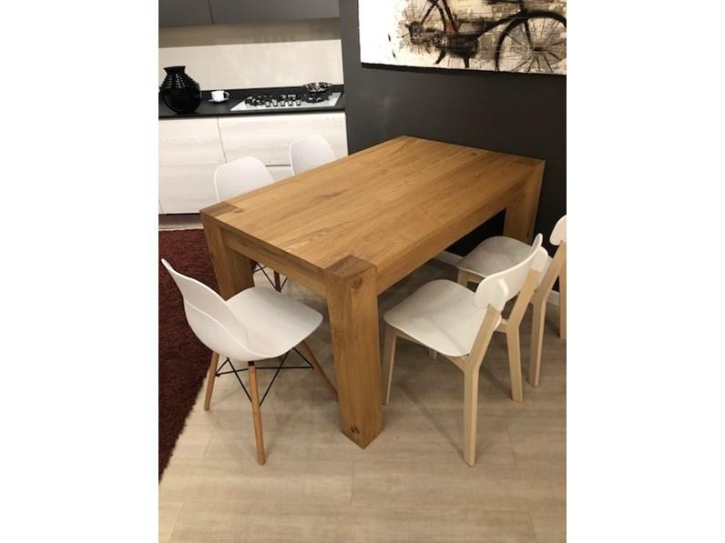 Tavolo Cucine noventa Tavolo tavolo allungabile 160 x 90 in rovere naturale  PREZZI OUTLET