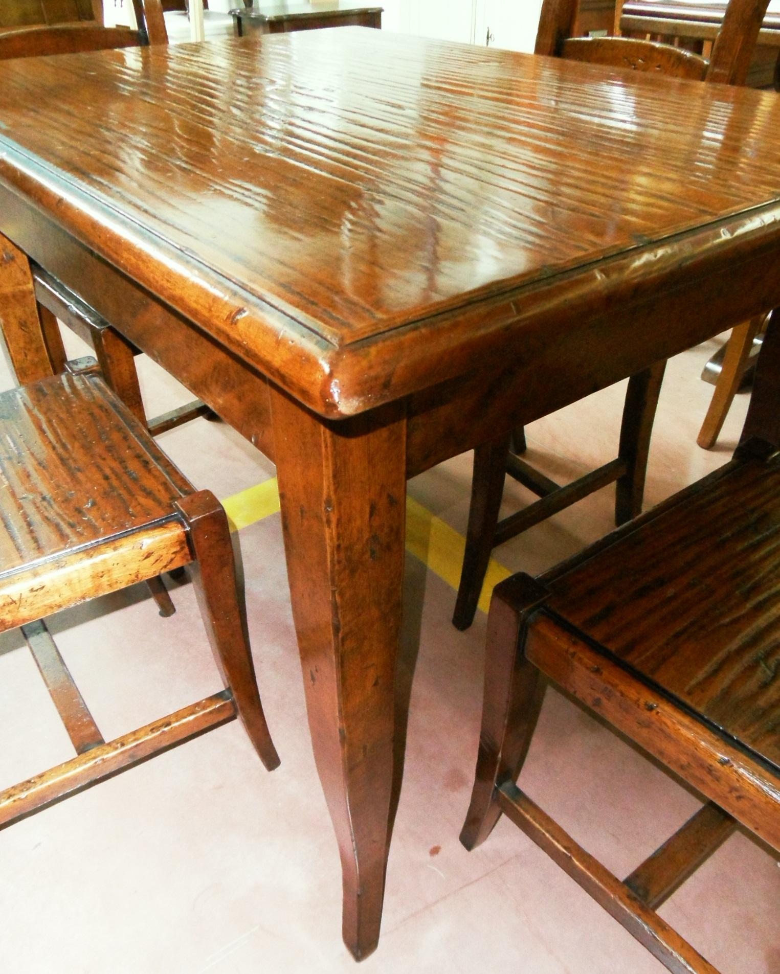 Tavolo da cucina con sedie scontato del 60 tavoli a for Sedie cucina mercatone uno