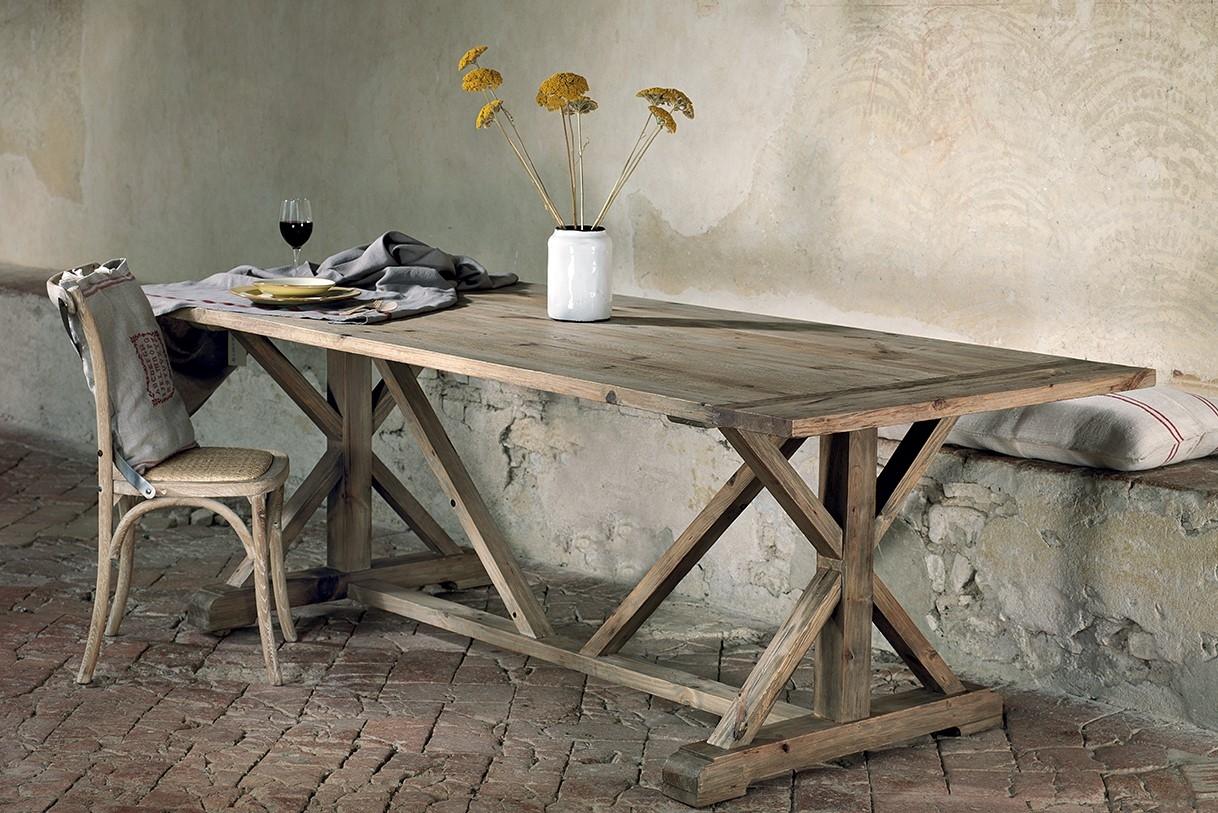 Tavolo da cucina in pino vecchio scontato del 37 tavoli for Tavolo legno vecchio cucina