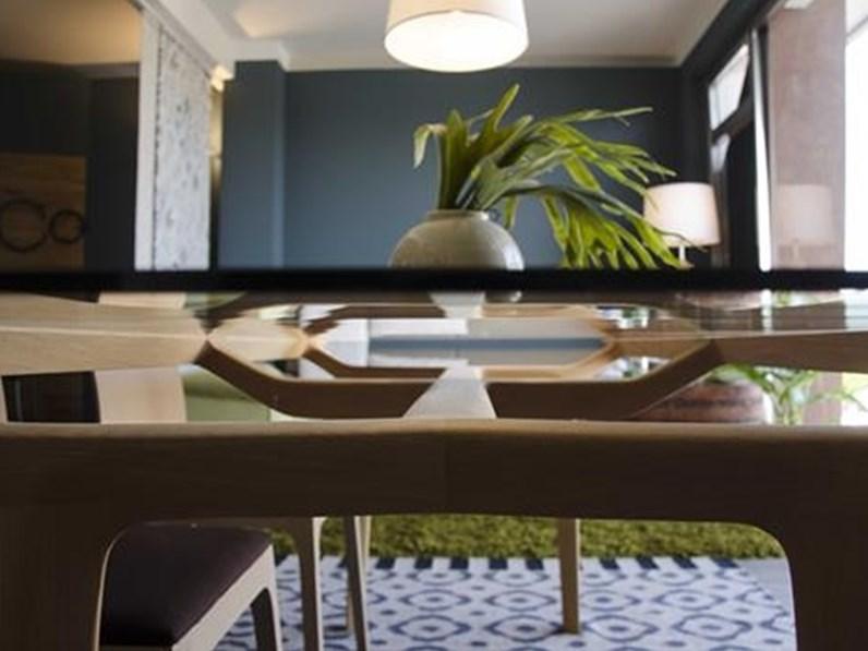 Tavolo da pranzo Ceccotti Avio in rovere e vetro