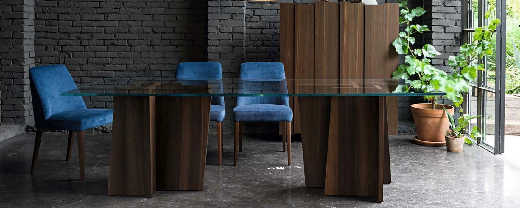dall 39 agnese tavolo stripe scontato del 29 tavoli a prezzi scontati. Black Bedroom Furniture Sets. Home Design Ideas