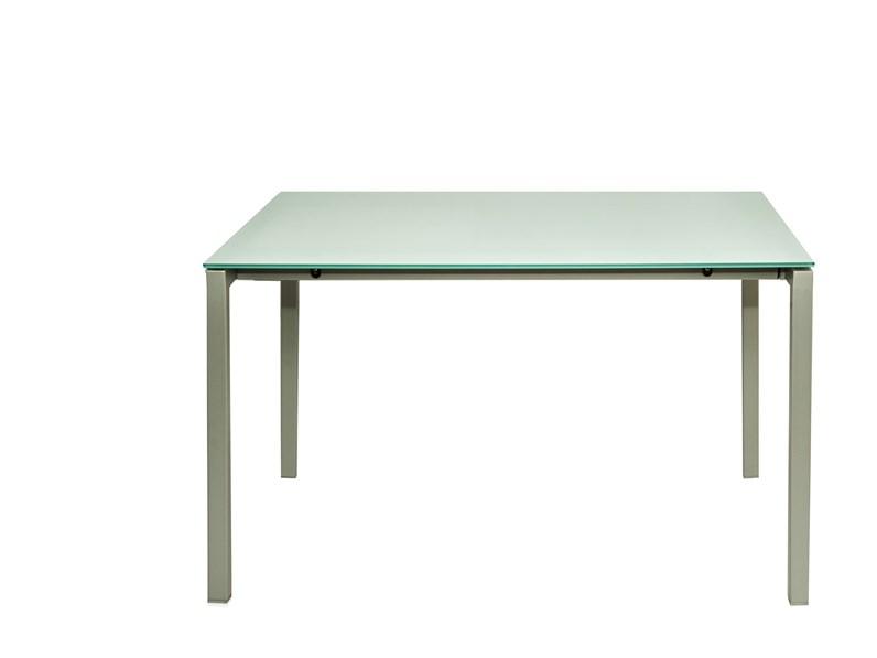 Tavolo della Bonaldo EUGENIO Ripiano in Cristallo allungabile ...