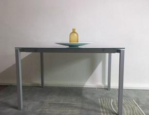 Tavolo della Bonaldo EUGENIO Ripiano in Cristallo allungabile scontato del -65% le 120x80xH.75 cm