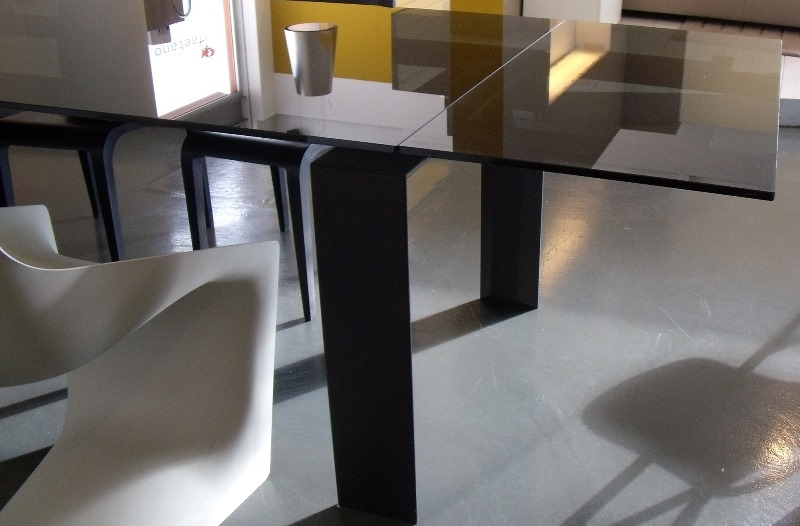 Tavolo desalto stilt rettangolari allungabili vetro design ...