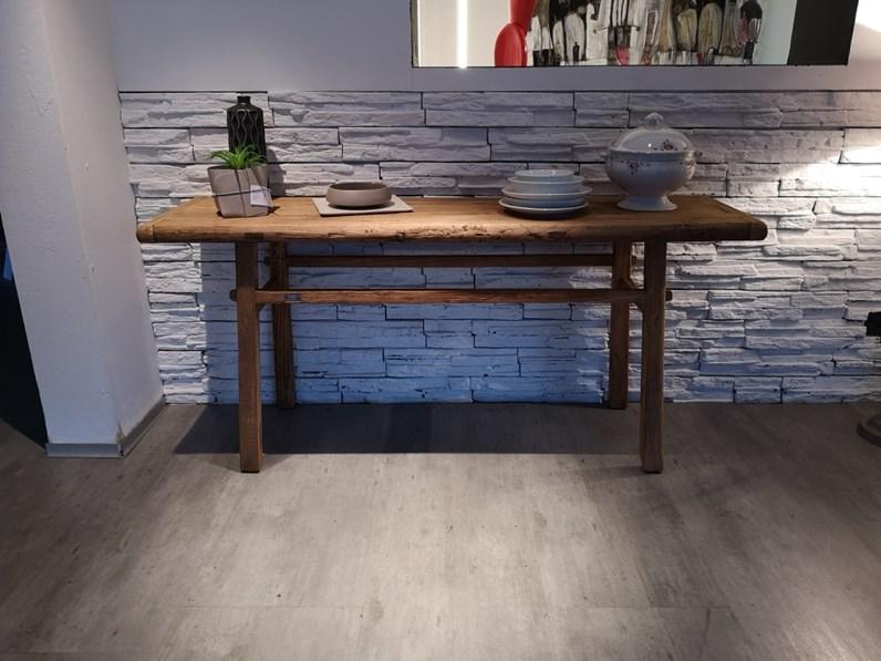 Tavolo desk nature design in legno consolle for Outlet tavoli design