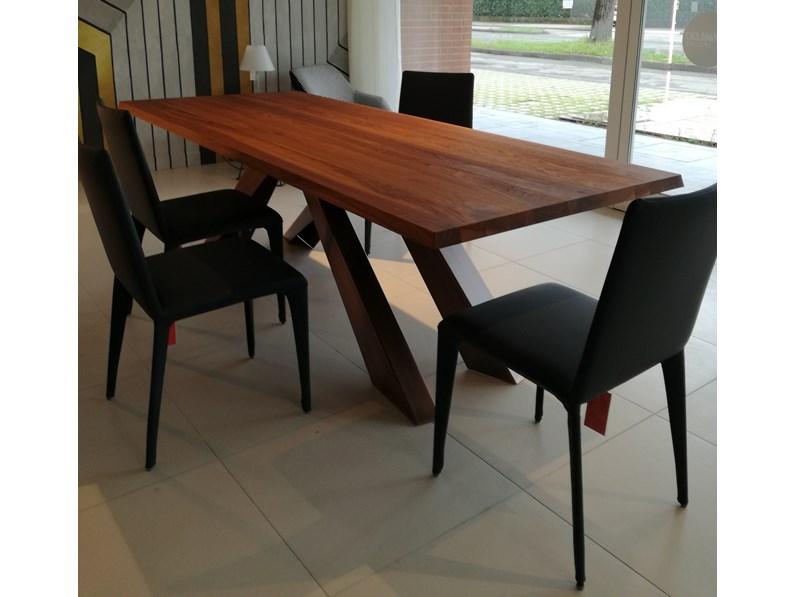 Tavolo di Bonaldo Big table con gambe in bronzo rame PREZZI OUTLET