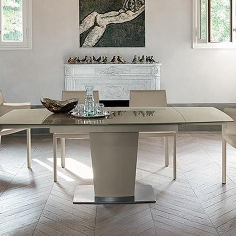 Tavolo di design allungabile in vetro temperato tavoli a - Tavolo di vetro allungabile ...