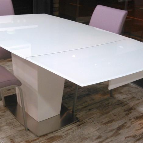 Tavolo di design allungabile in vetro temperato tavoli a - Tavolo di vetro ...