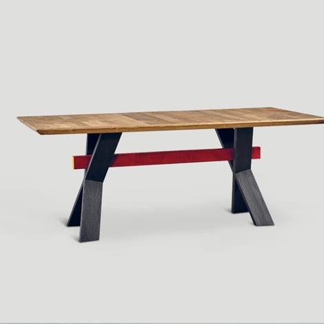 Tavolo dialma brown db004124 in legno vecchio riciclato - Tavoli in legno vecchio ...