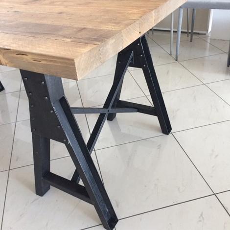 Tavolo Dialma Brown DB 002674 in legno massello riclato e ...