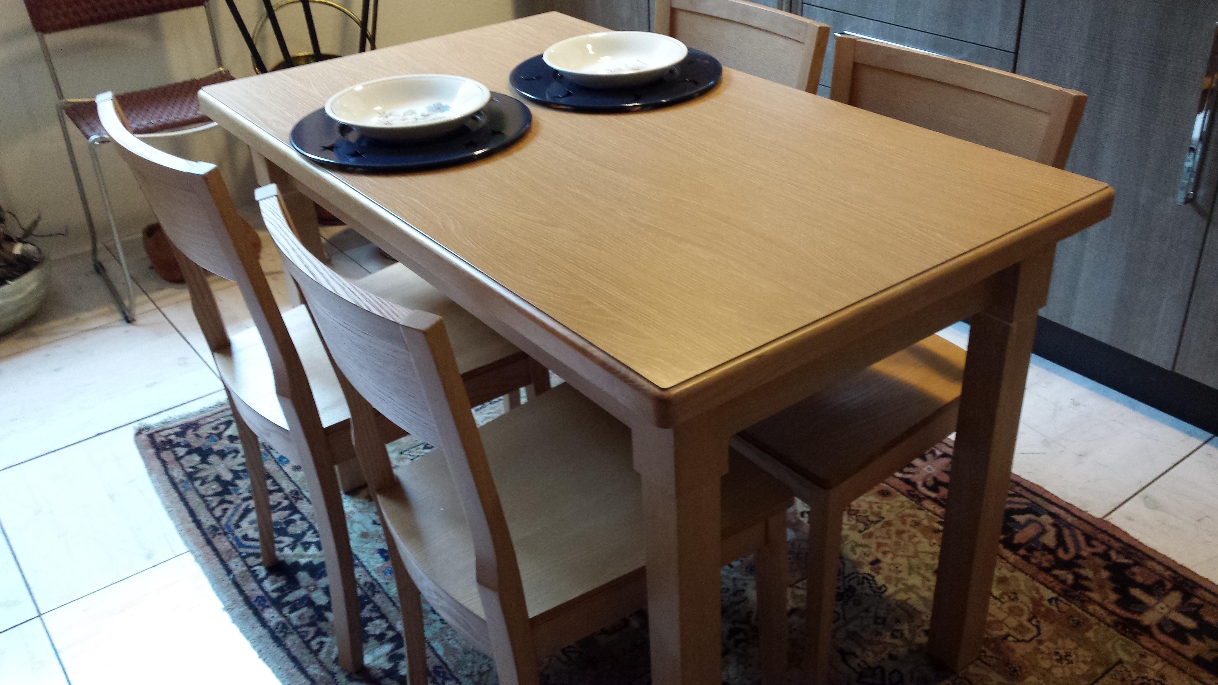 Legno Rovere Gessato Bordi Massello Da 120/160 X 70 Con 4 Sedie In #886C43 4128 2322 Sedie In Legno Per Cucina Colorate