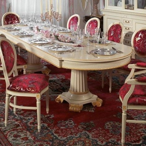 Tavolo e sedie massiccio foglia oro made in italy tavoli for Sedie made in italy