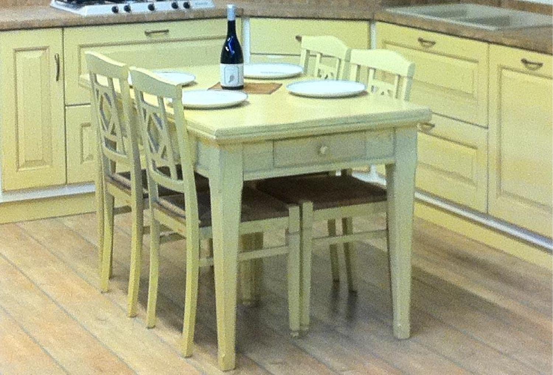Tavolo e sedie scavolini 4106 tavoli a prezzi scontati for Sedie gialle