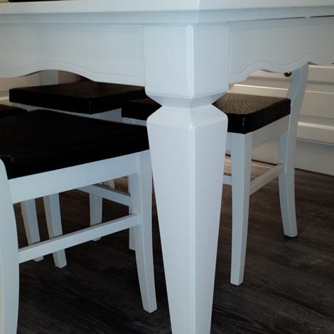 sedie scavolini outlet : Scavolini Tavolo Tavolo hilton laccato opaco bianco Rettangolare ...