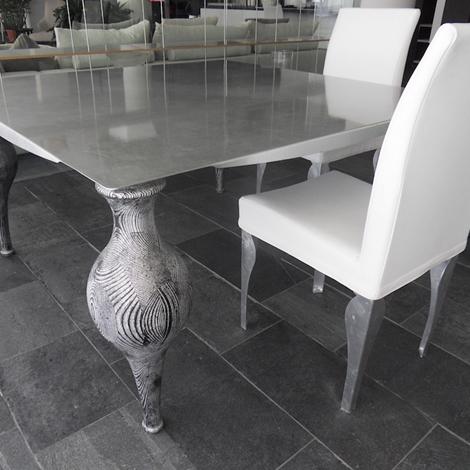 Tavolo ego zeroventiquattro quadrato con piano in metallo for Tavolo quadrato grande