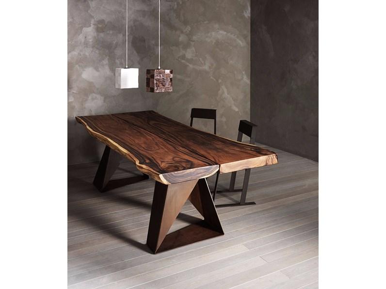 Tavolo elite tavolo in legno massiccio rettangolari fissi for Tavoli design outlet